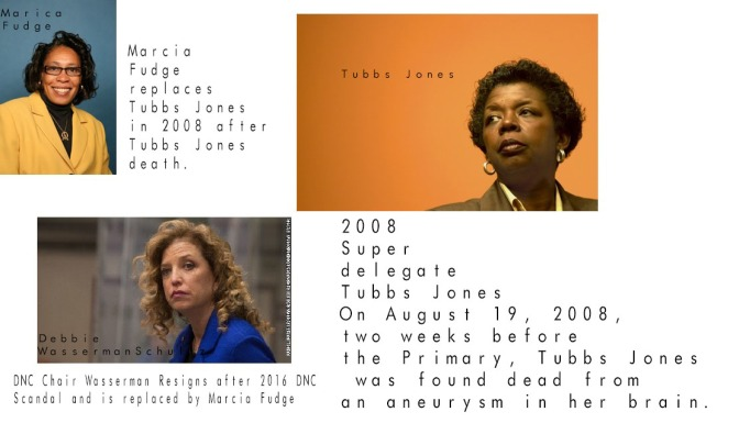 The Deaths of 2008 Superdelegates & 2016 DNC associates (Tubbs Jones, Bill Gwatney, Seth Rich, and Shawn Lucas)